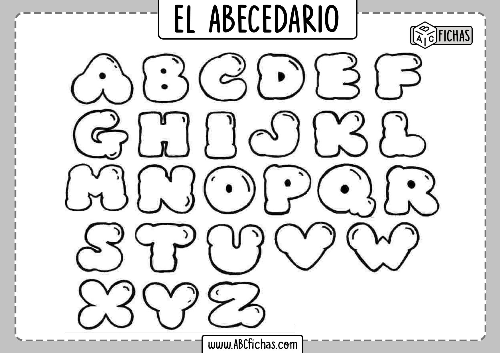 Abecedario Colorear Letras
