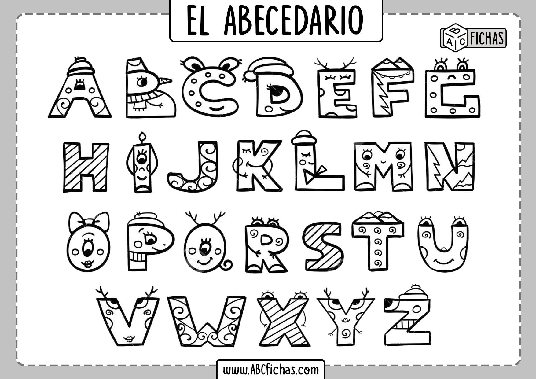 Dibujo Letras del Abecedario