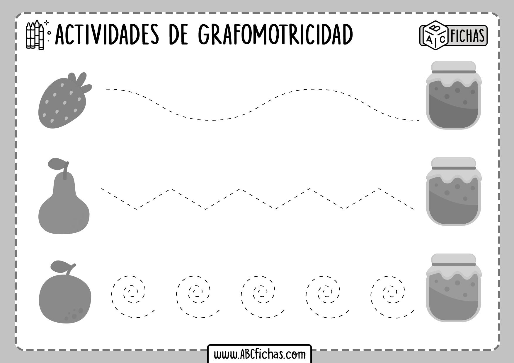 Fichas de Trazado de Lineas Grafomotricidad