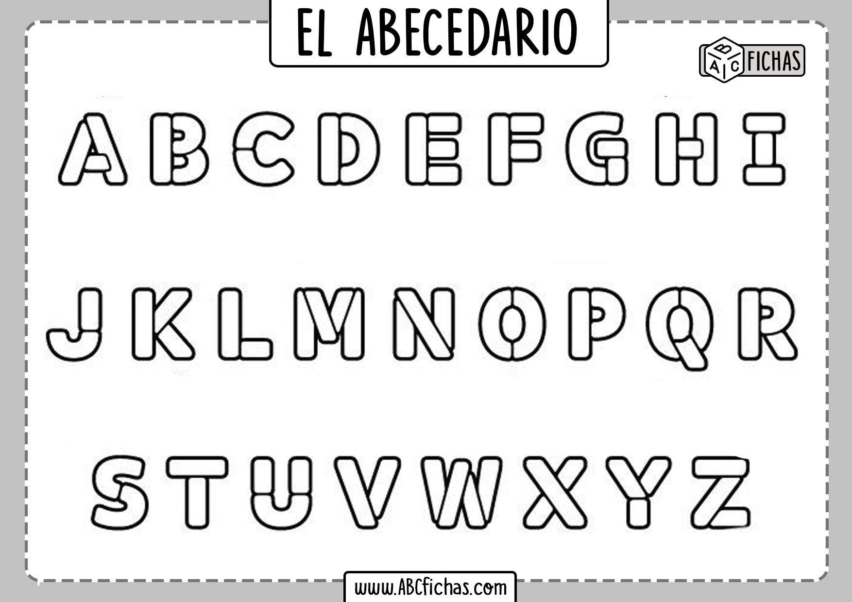 Letras del Abecedario para Colorear Imprimir