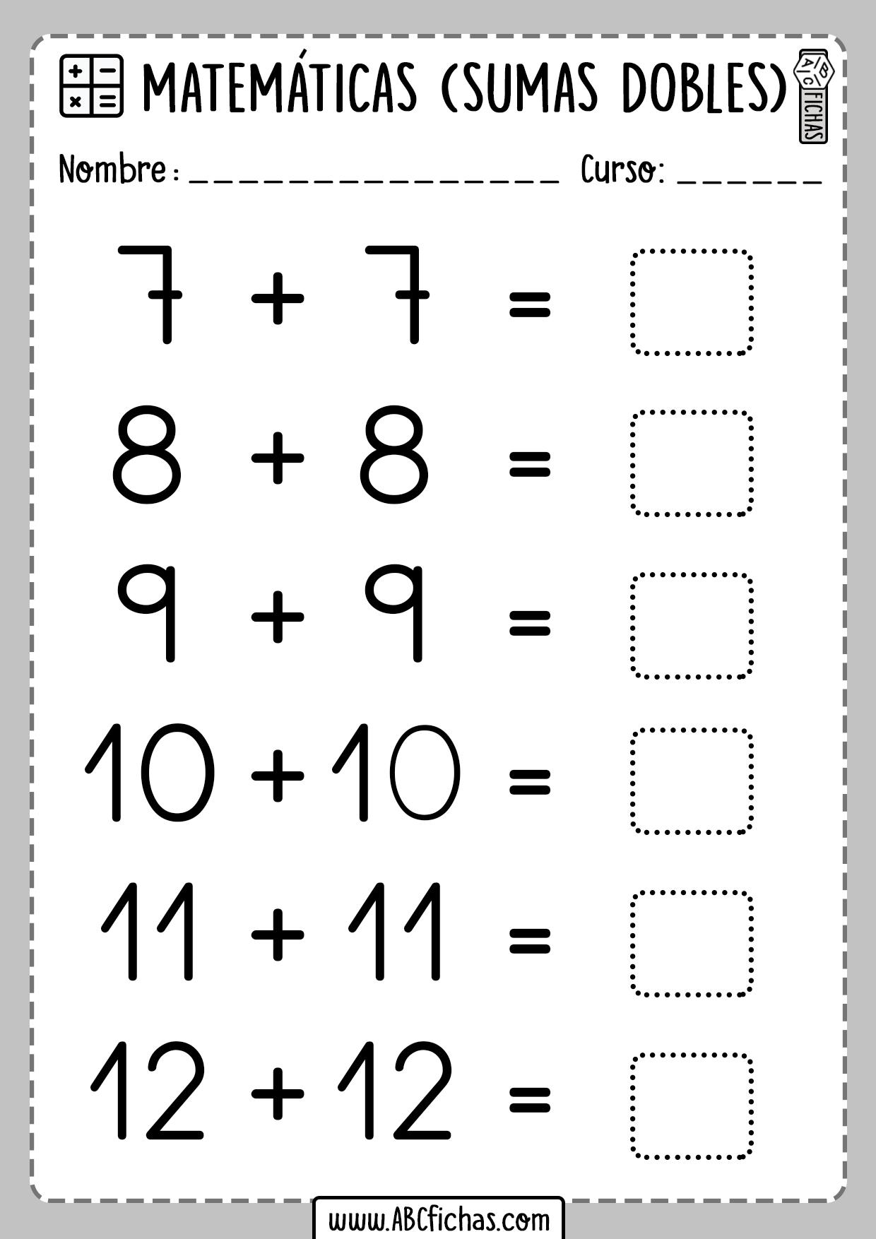 Sumas Dobles Matematicas