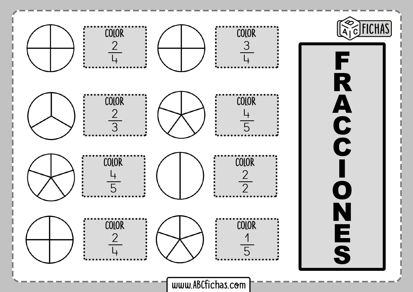 Fracciones para niños