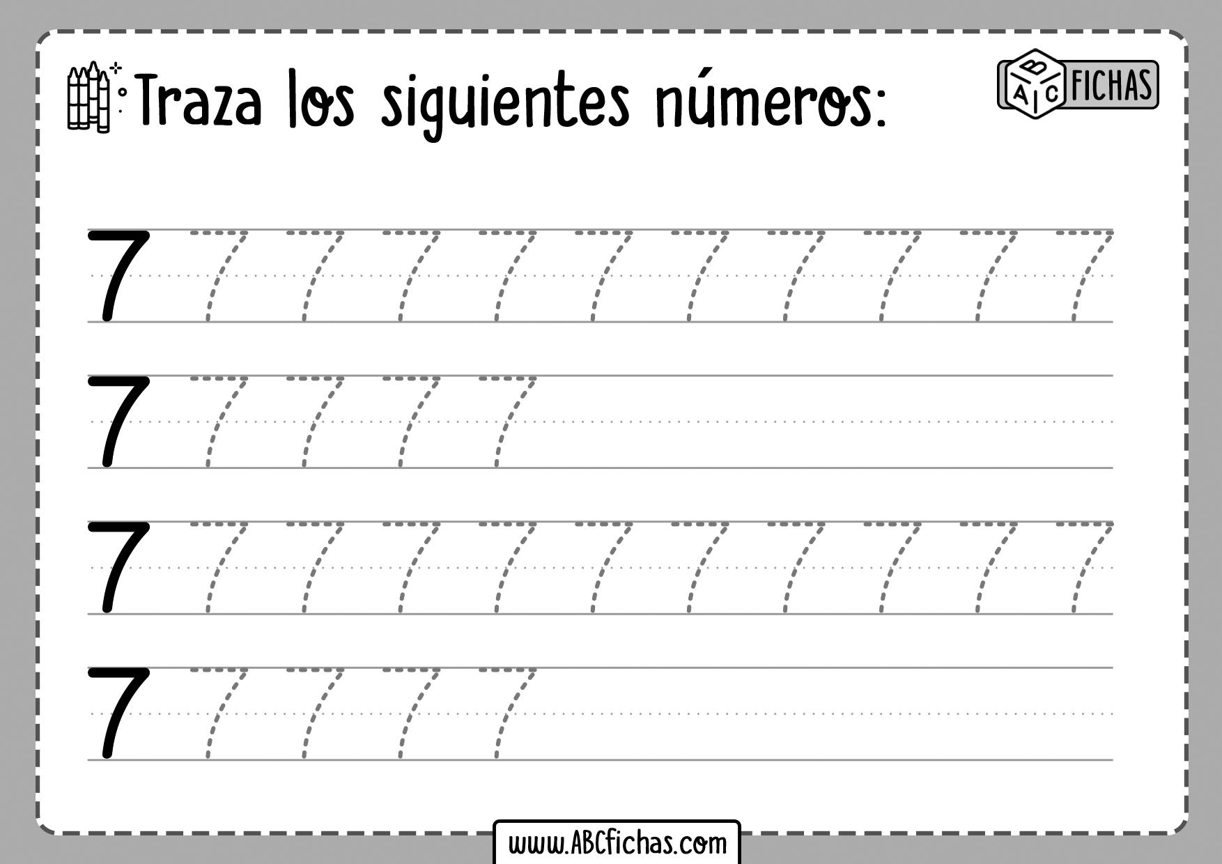 Grafomotricidad Numeros