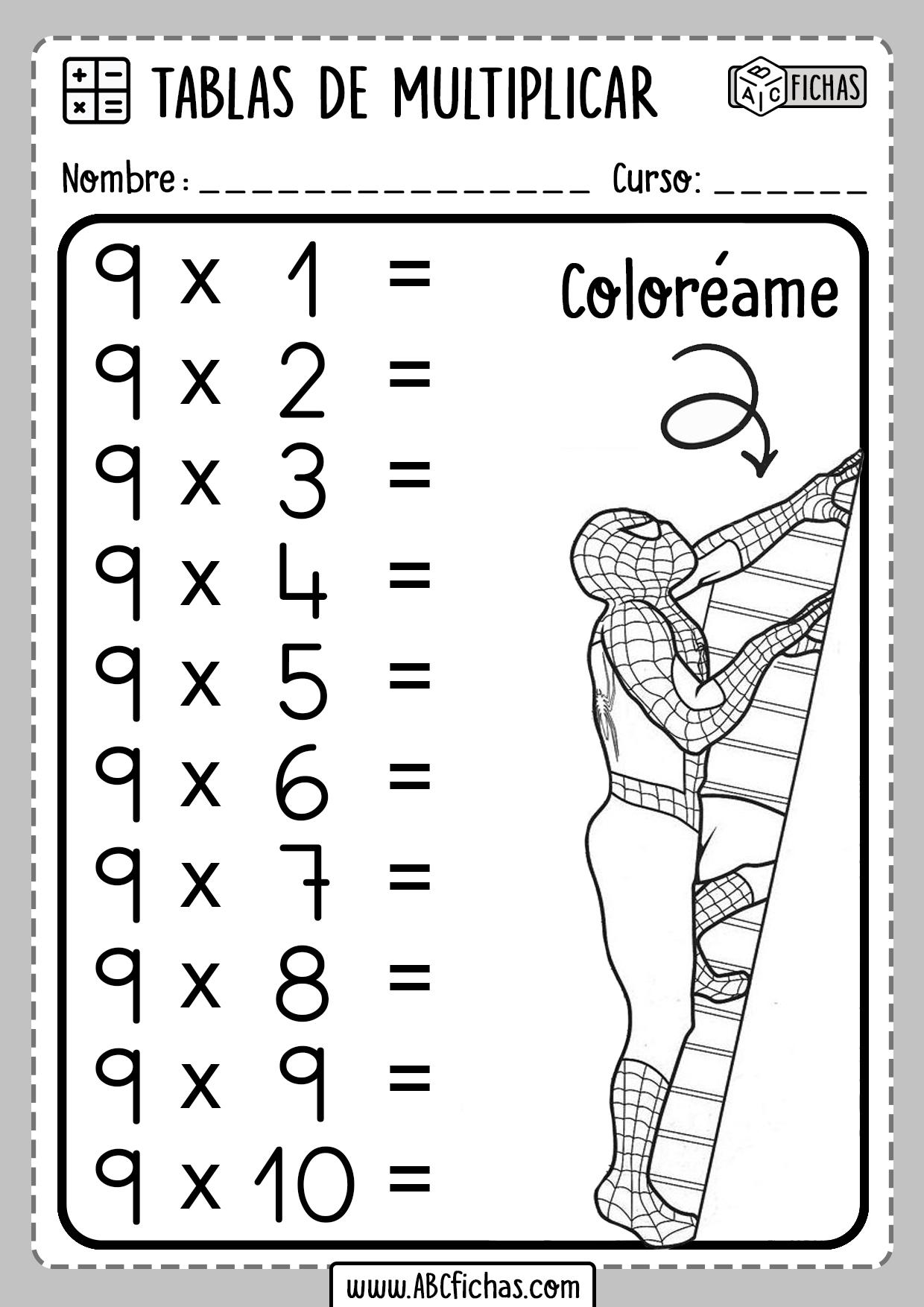Repasar Tablas de Multiplicar