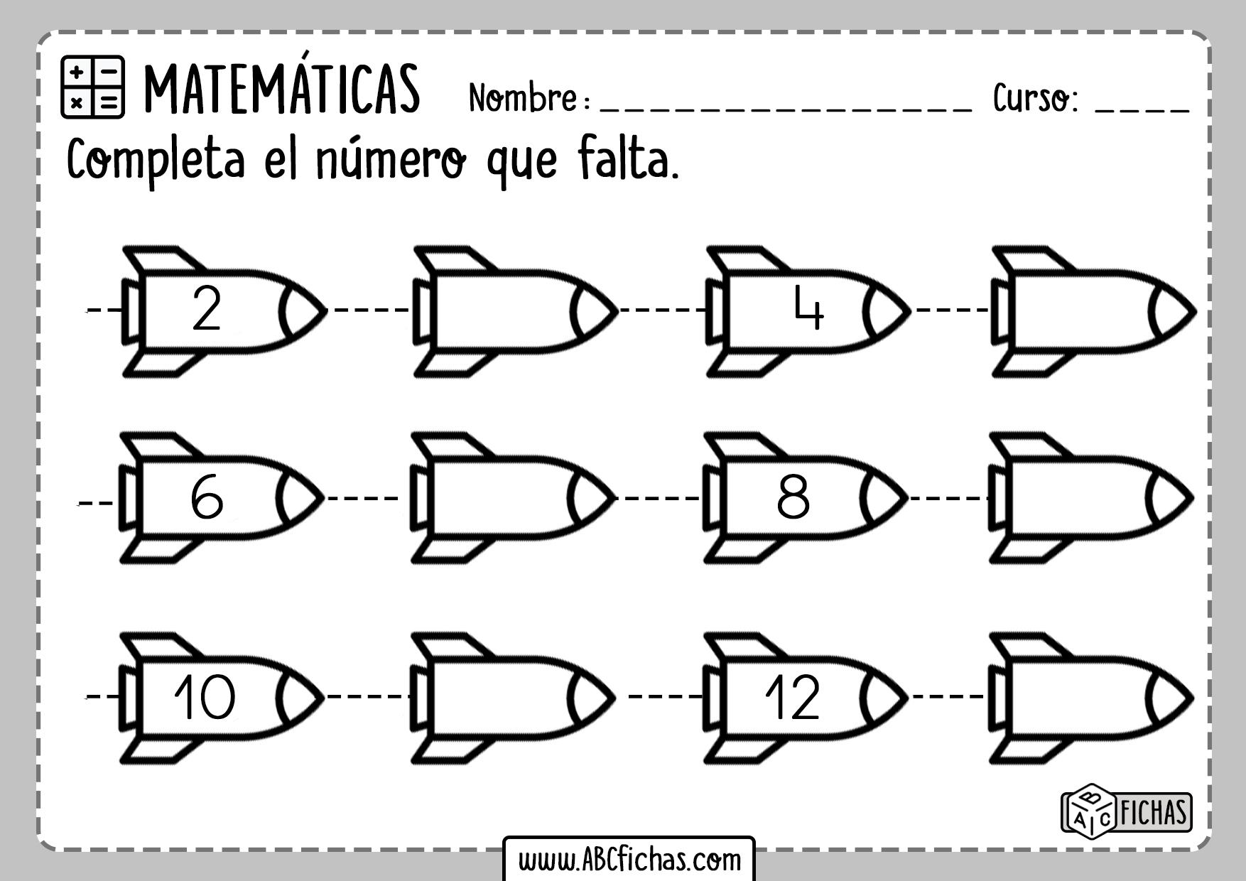 Series Numericas para Infantil y Primaria
