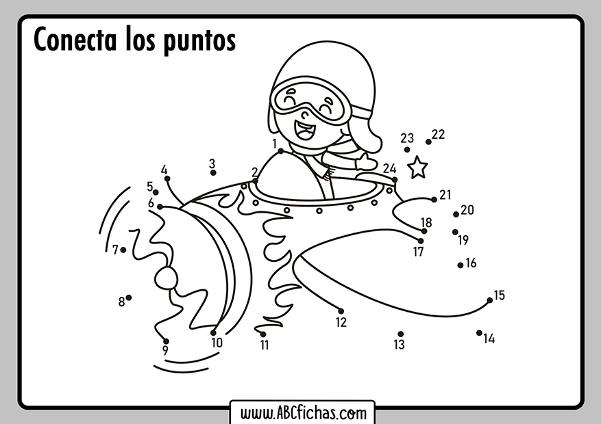 Dibujos de unir puntos para niños