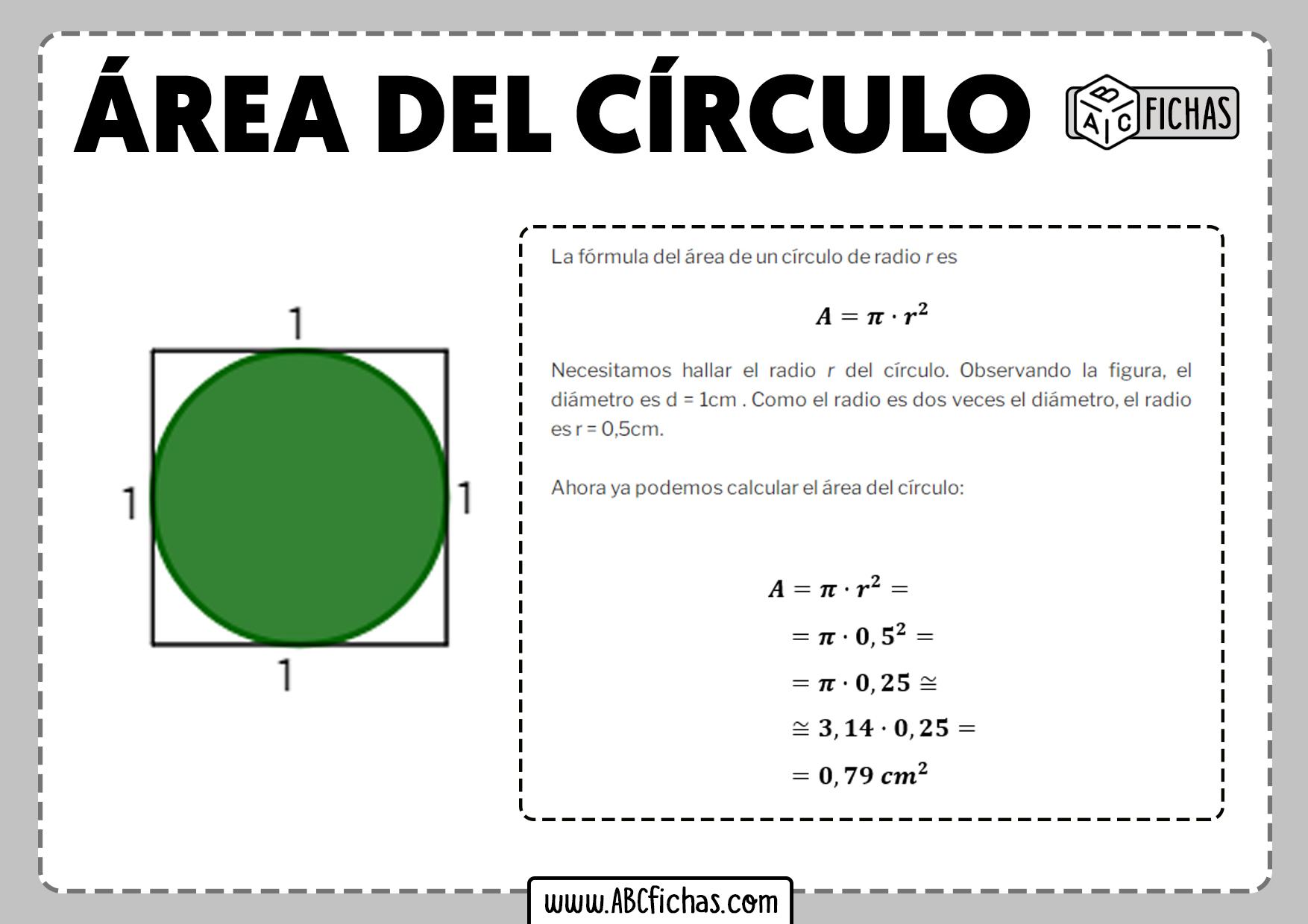 Calcular area del circulo