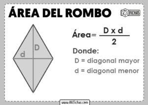 Calcular el area de un rombo