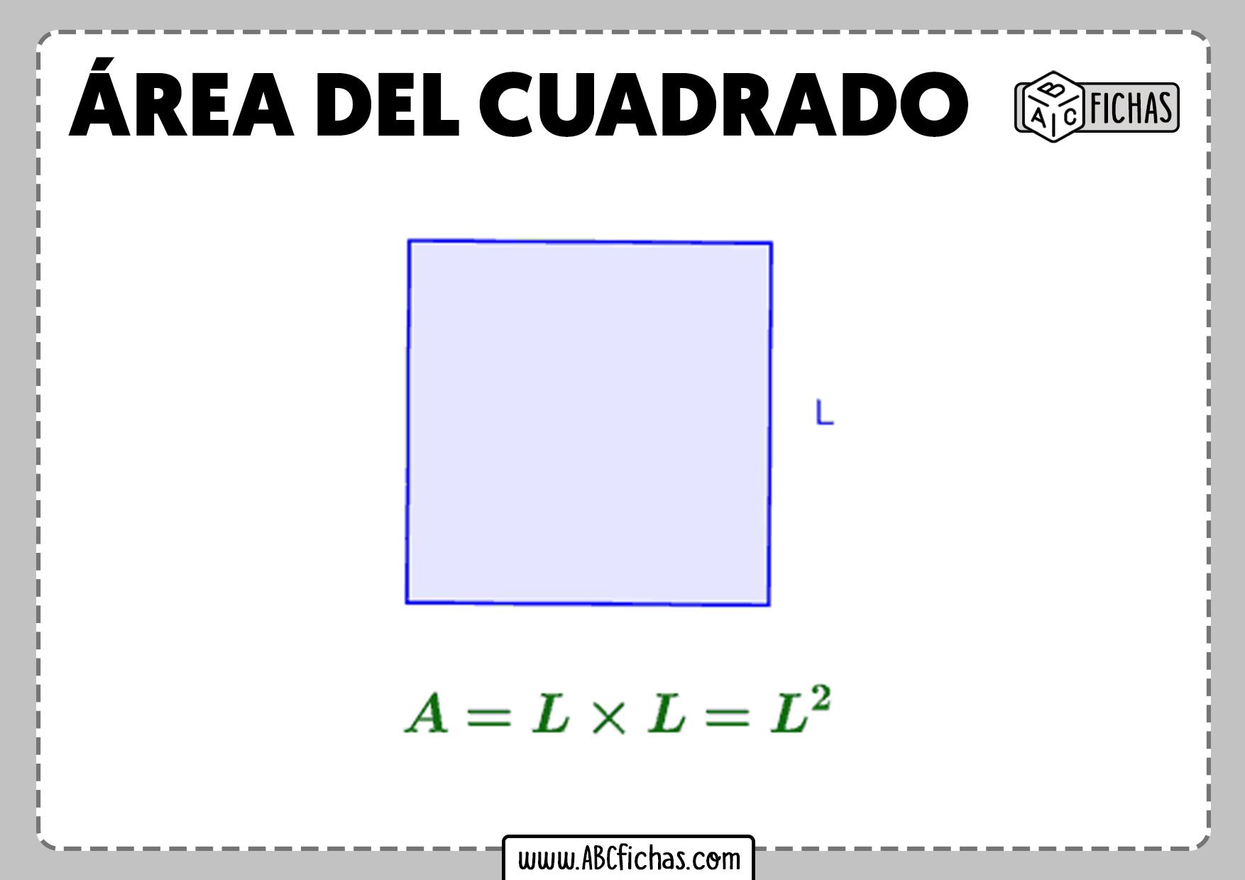 Como se calcula el area del cuadrado