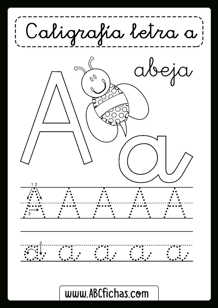 Ficha para aprender la letra a