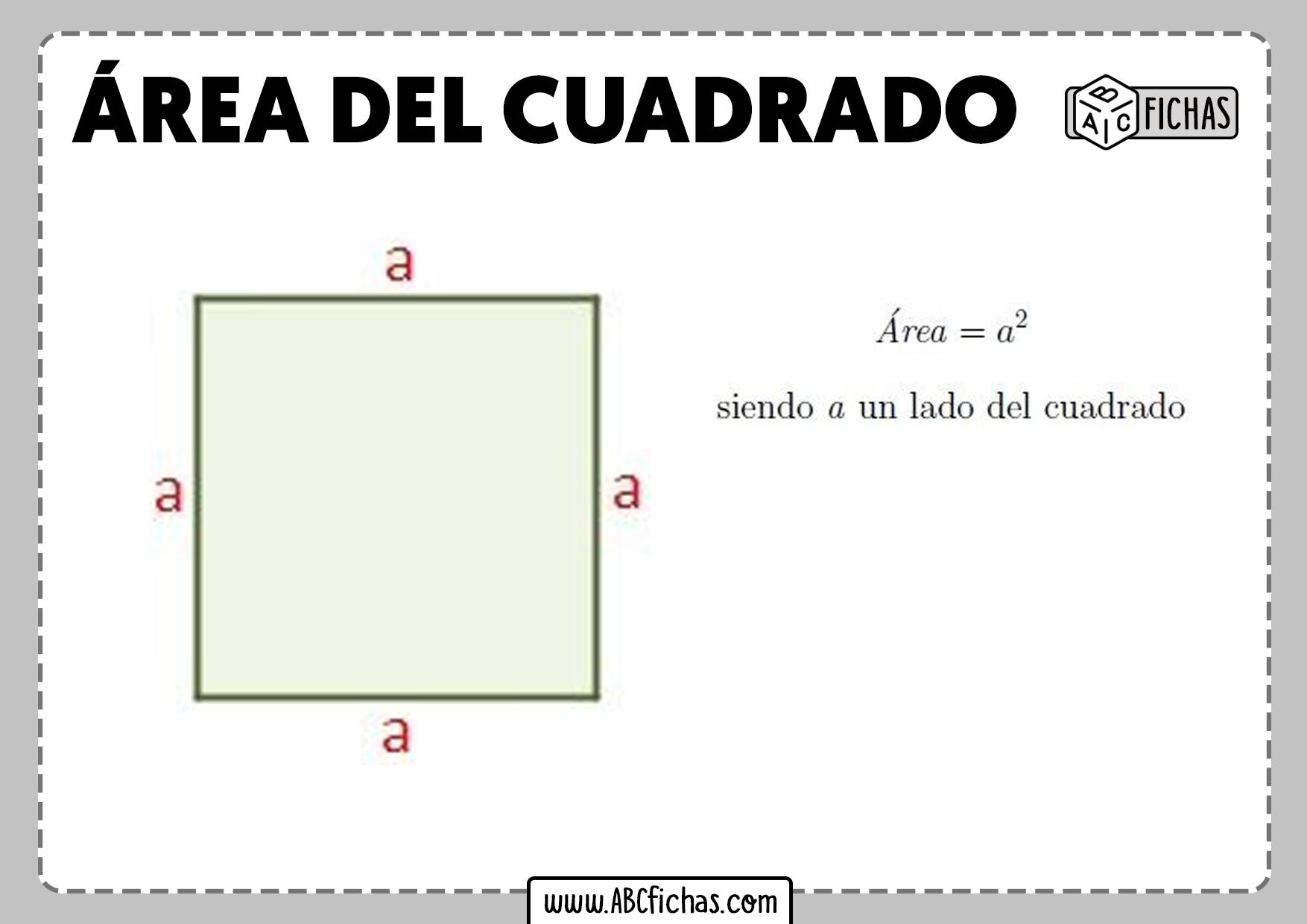 Formula area cuadrado