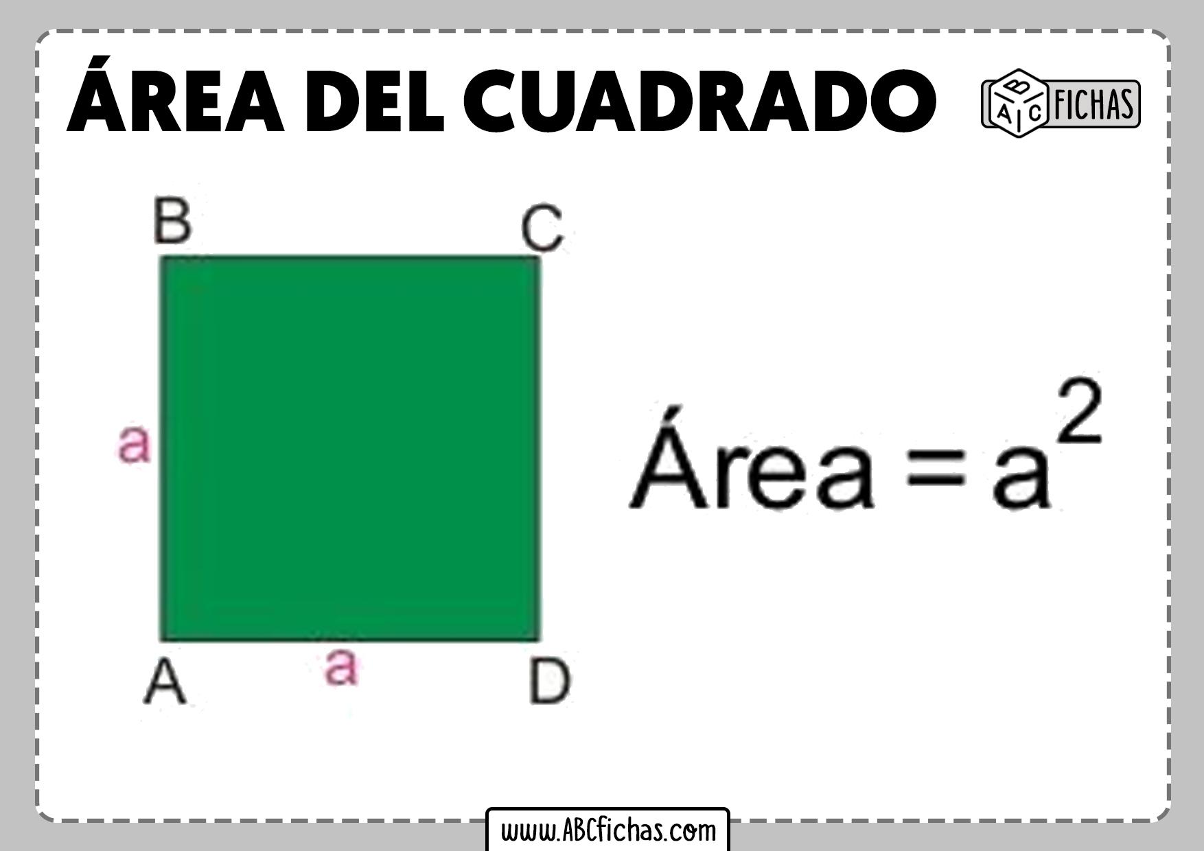 Formula area del cuadrado