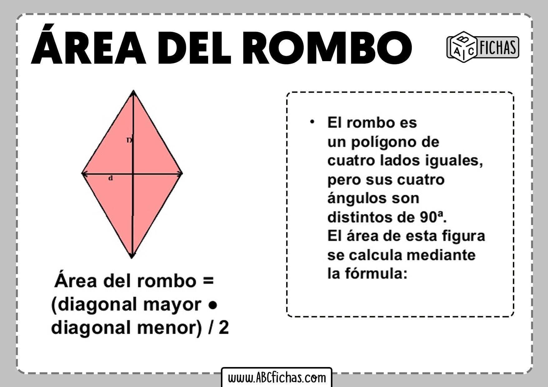 Formula del area del rombo