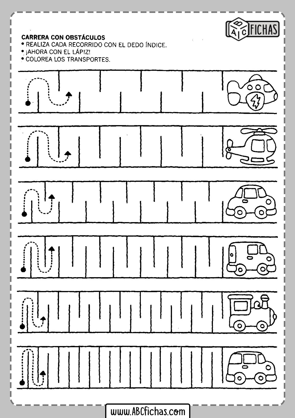Actividades para imprimir para niños de 5 años
