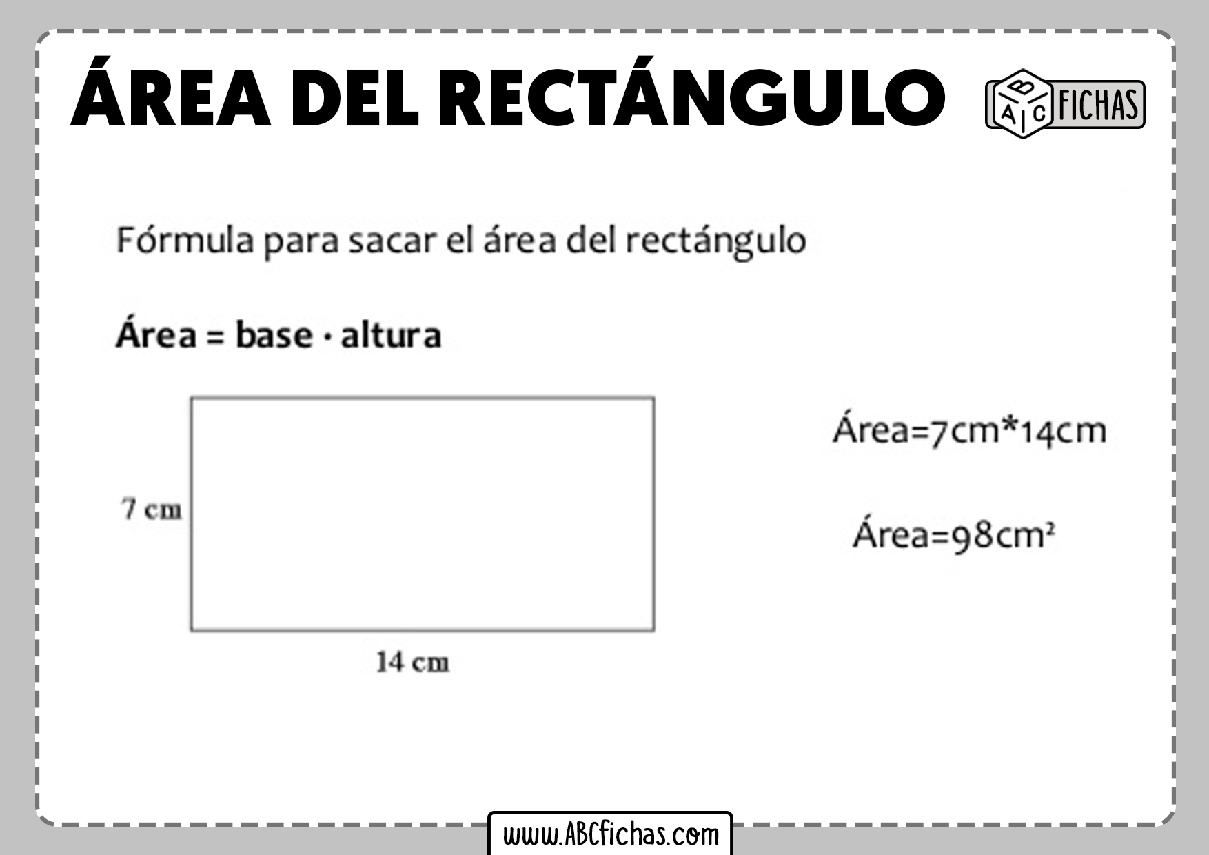 Area del rectangulo formula