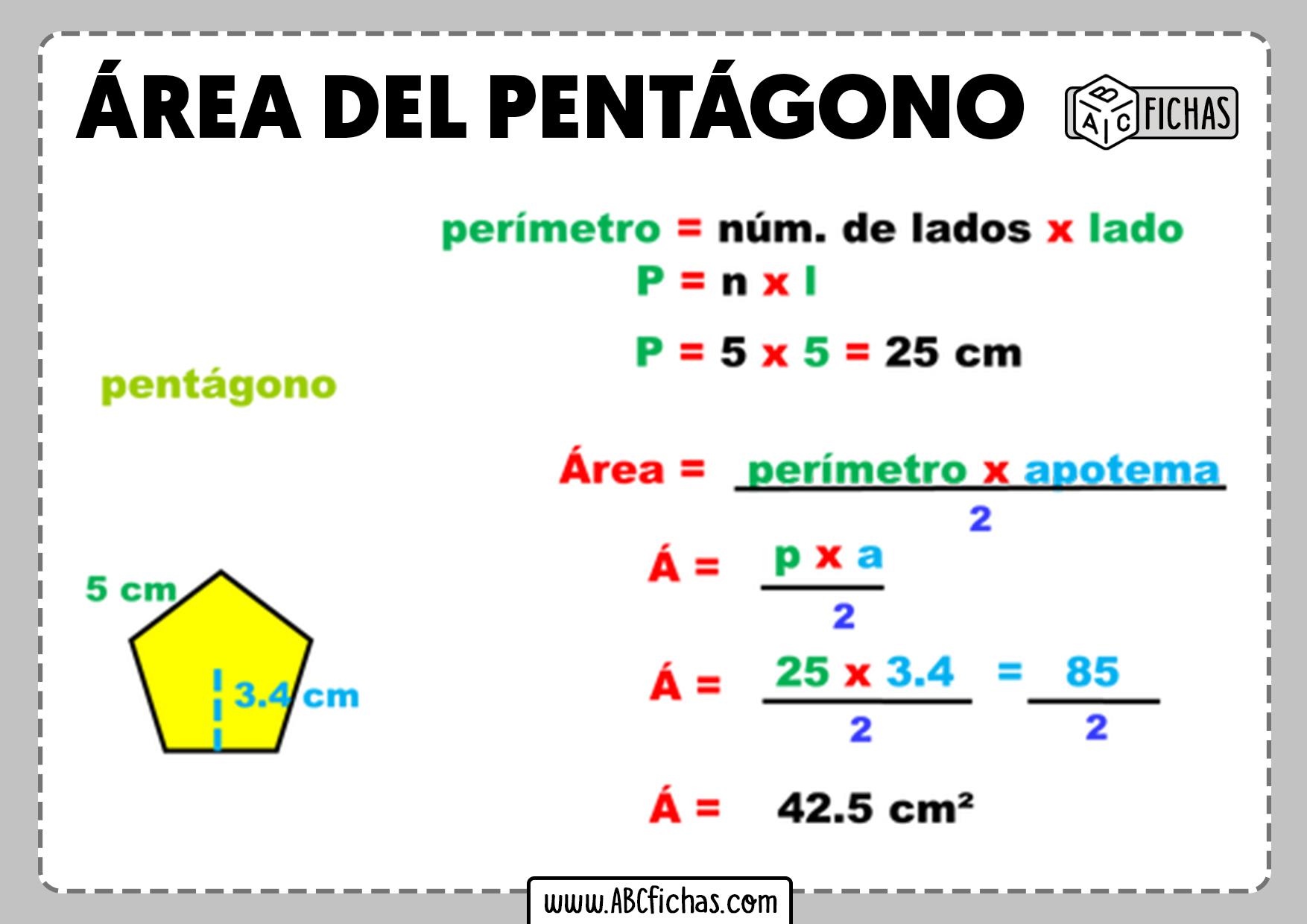 Como calcular el area del pentagono
