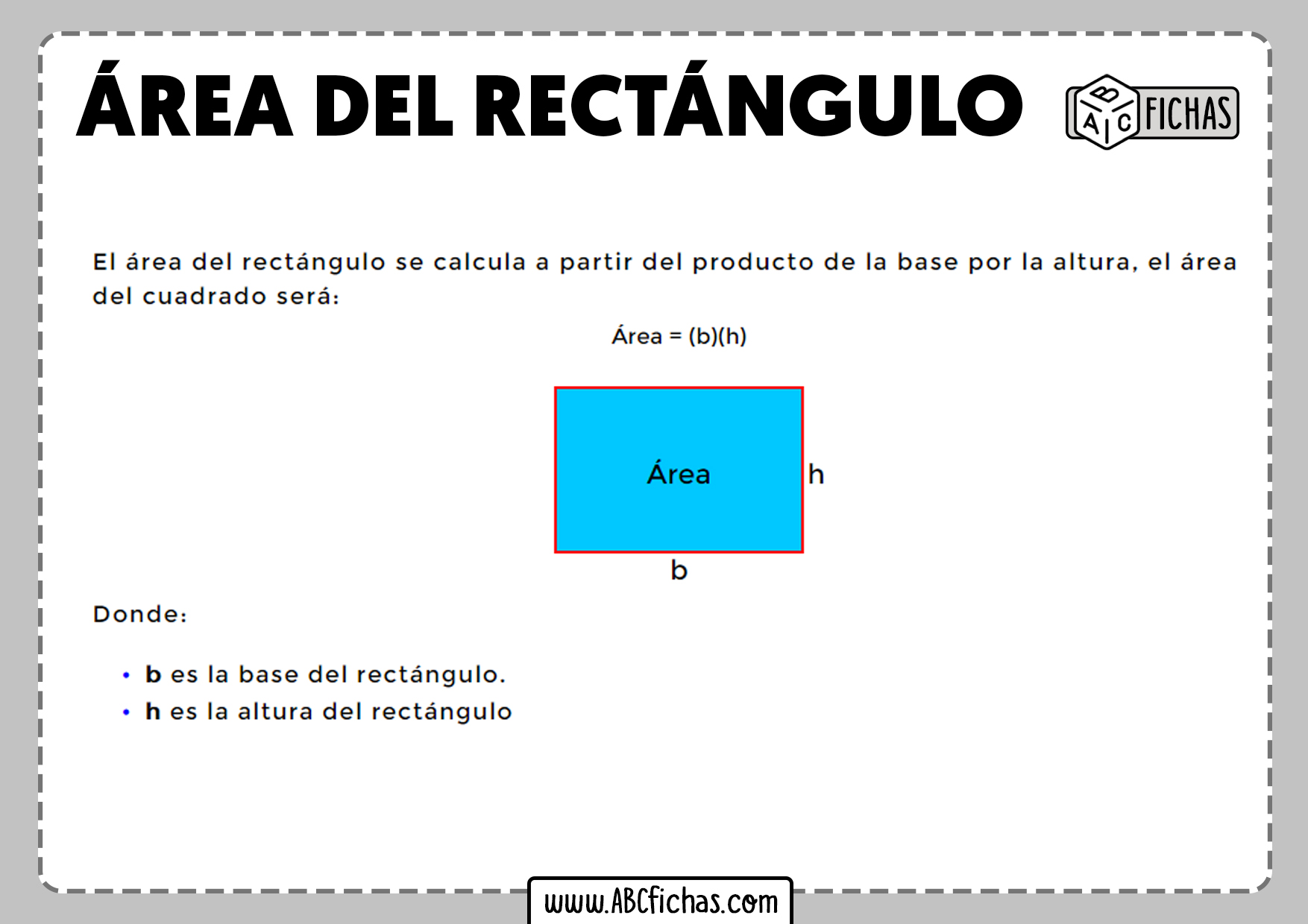 Como calcular el area del rectangulo