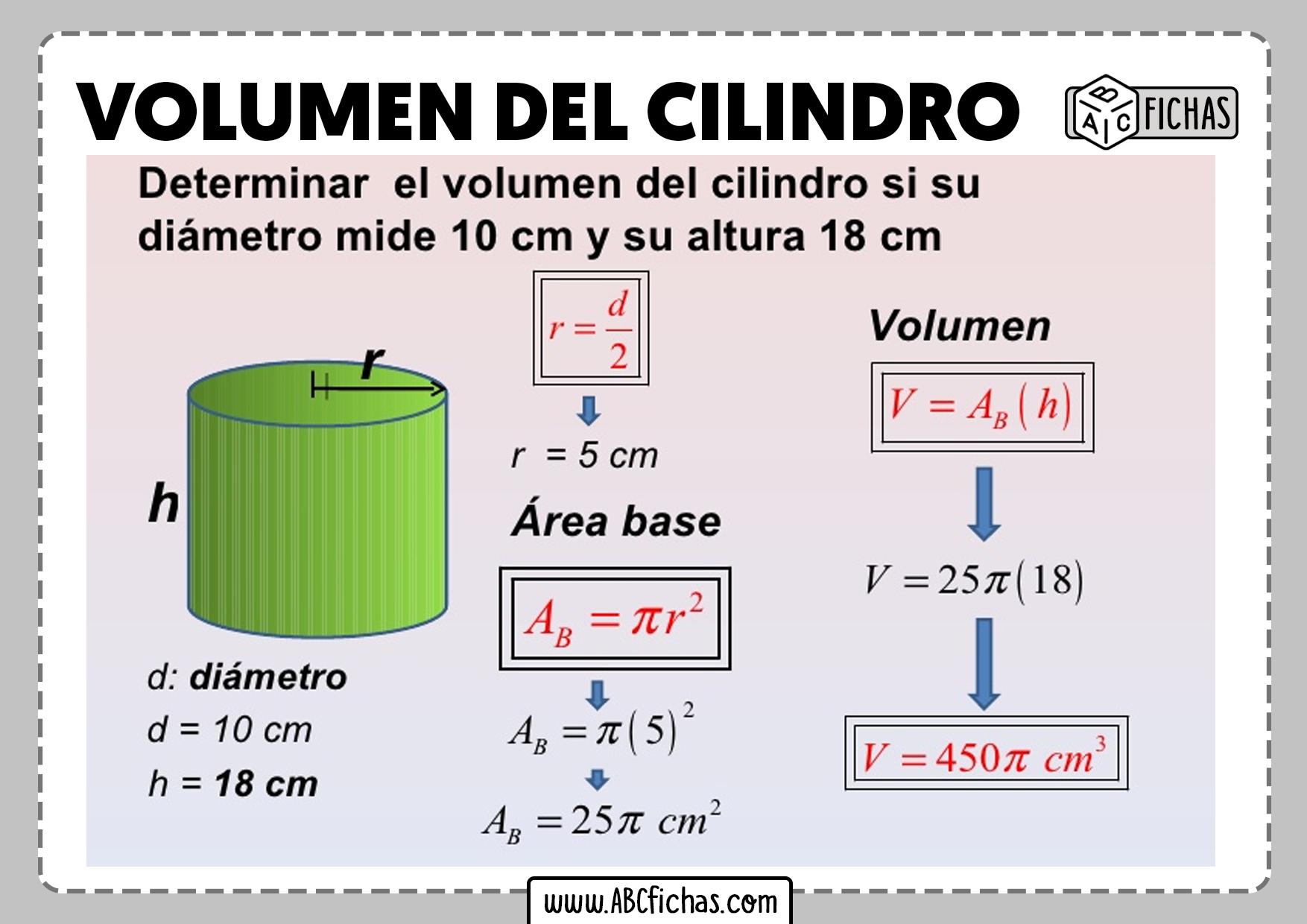 Como calcular el volumen del cilindro