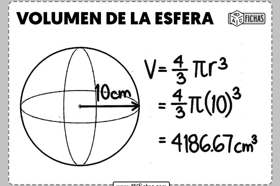 Como se calcula el volumen de una esfera