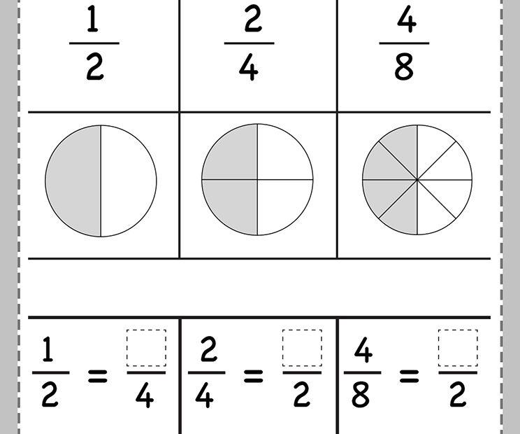 Ejercicios fracciones equivalentes