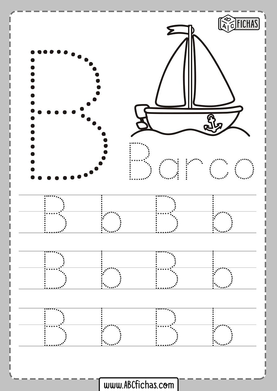 Ficha de la letra b