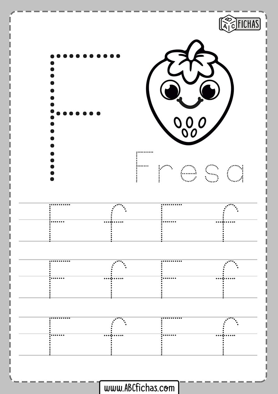 Ficha de la letra f