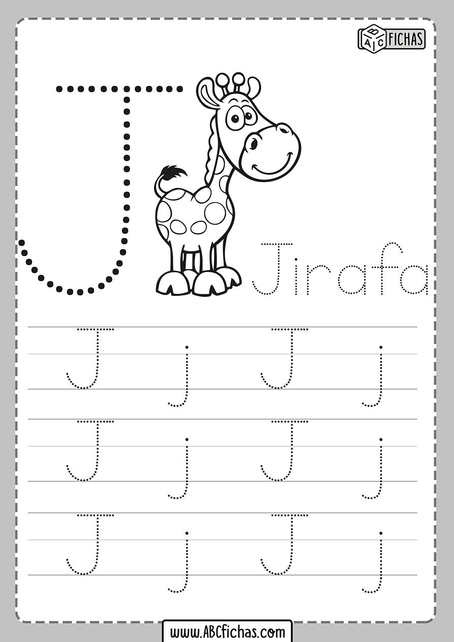 Ficha de la letra j