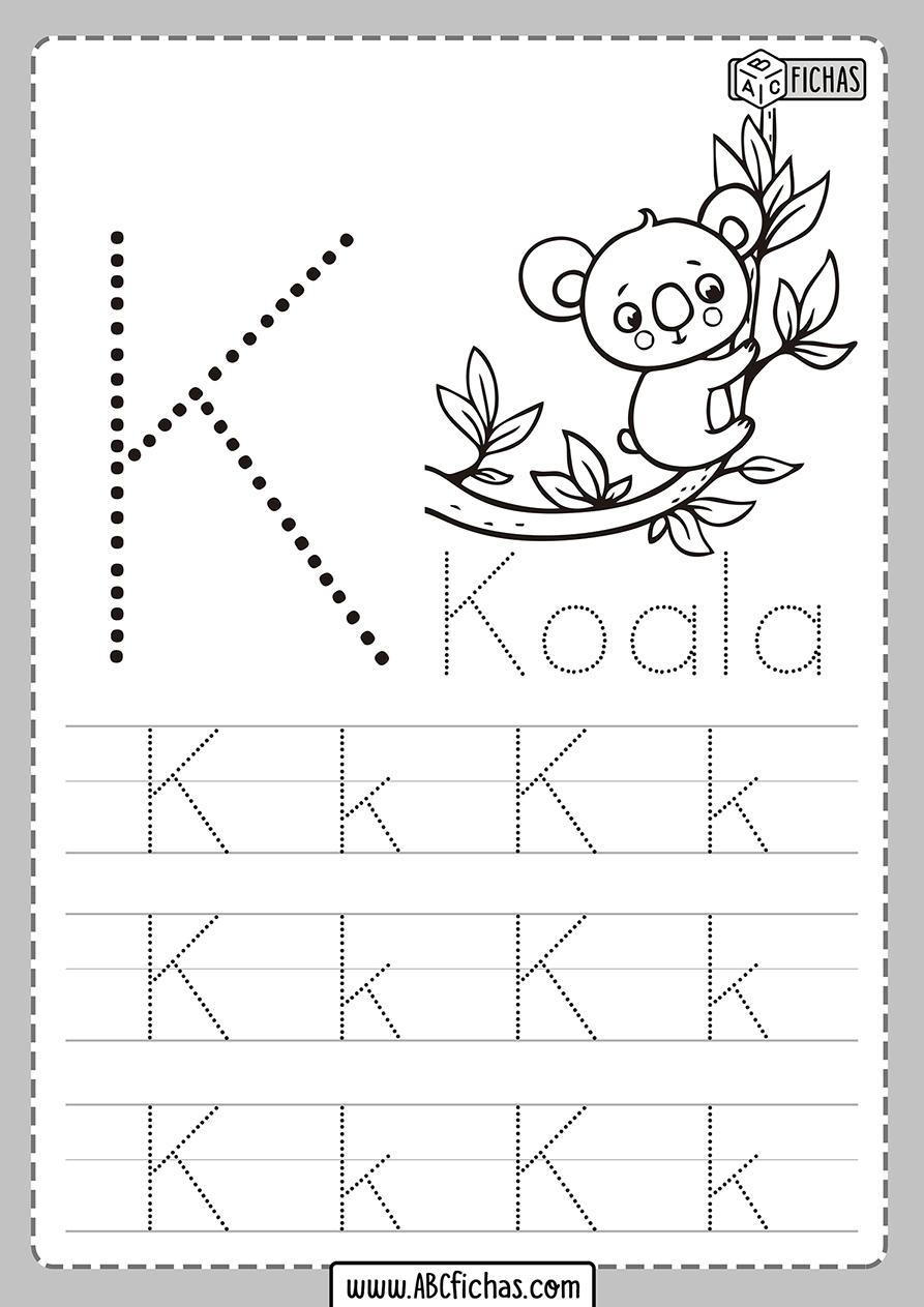 Ficha de la letra k