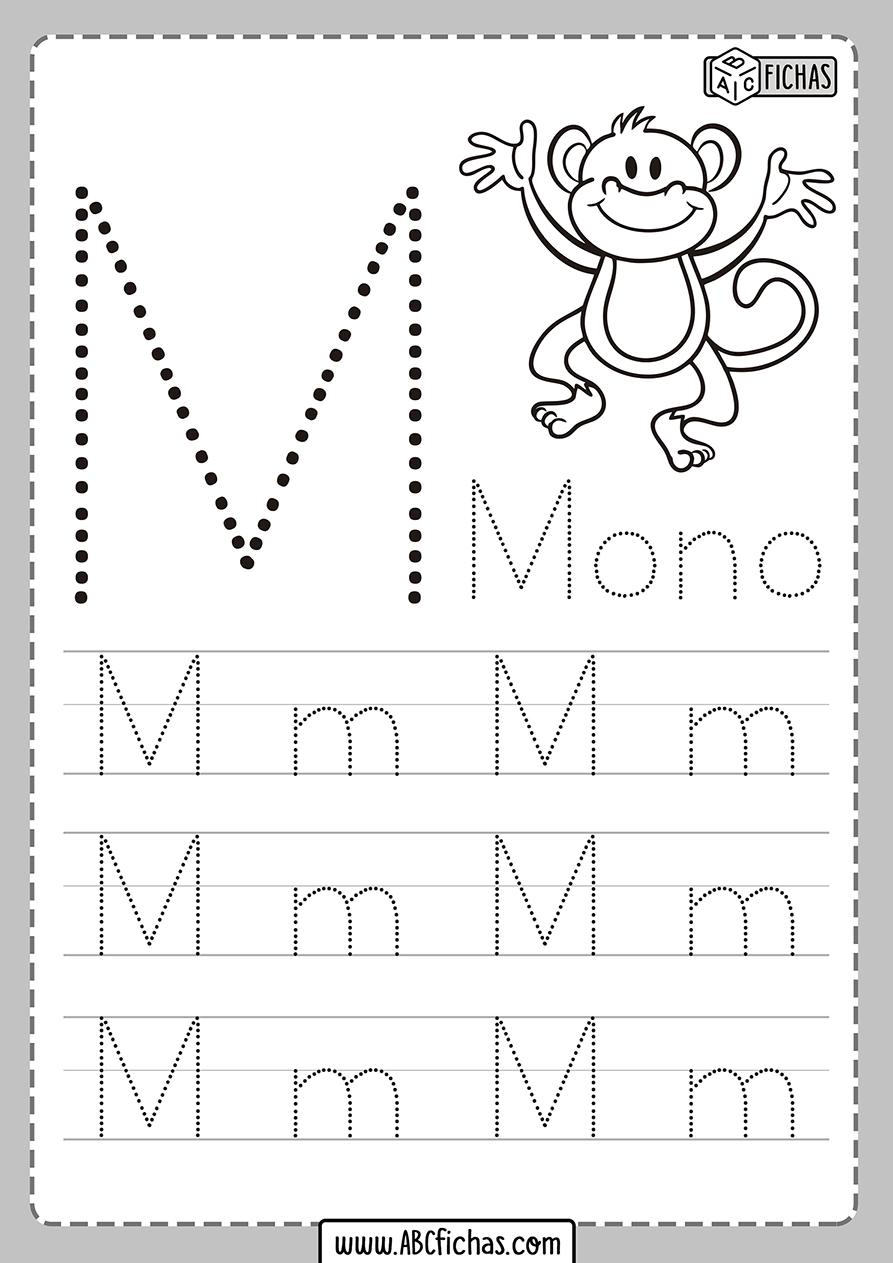 Ficha de la letra m