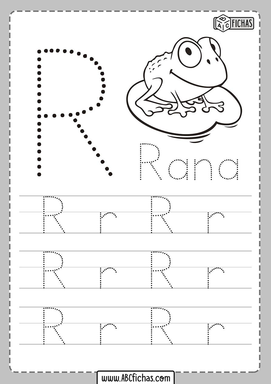 Ficha de la letra r