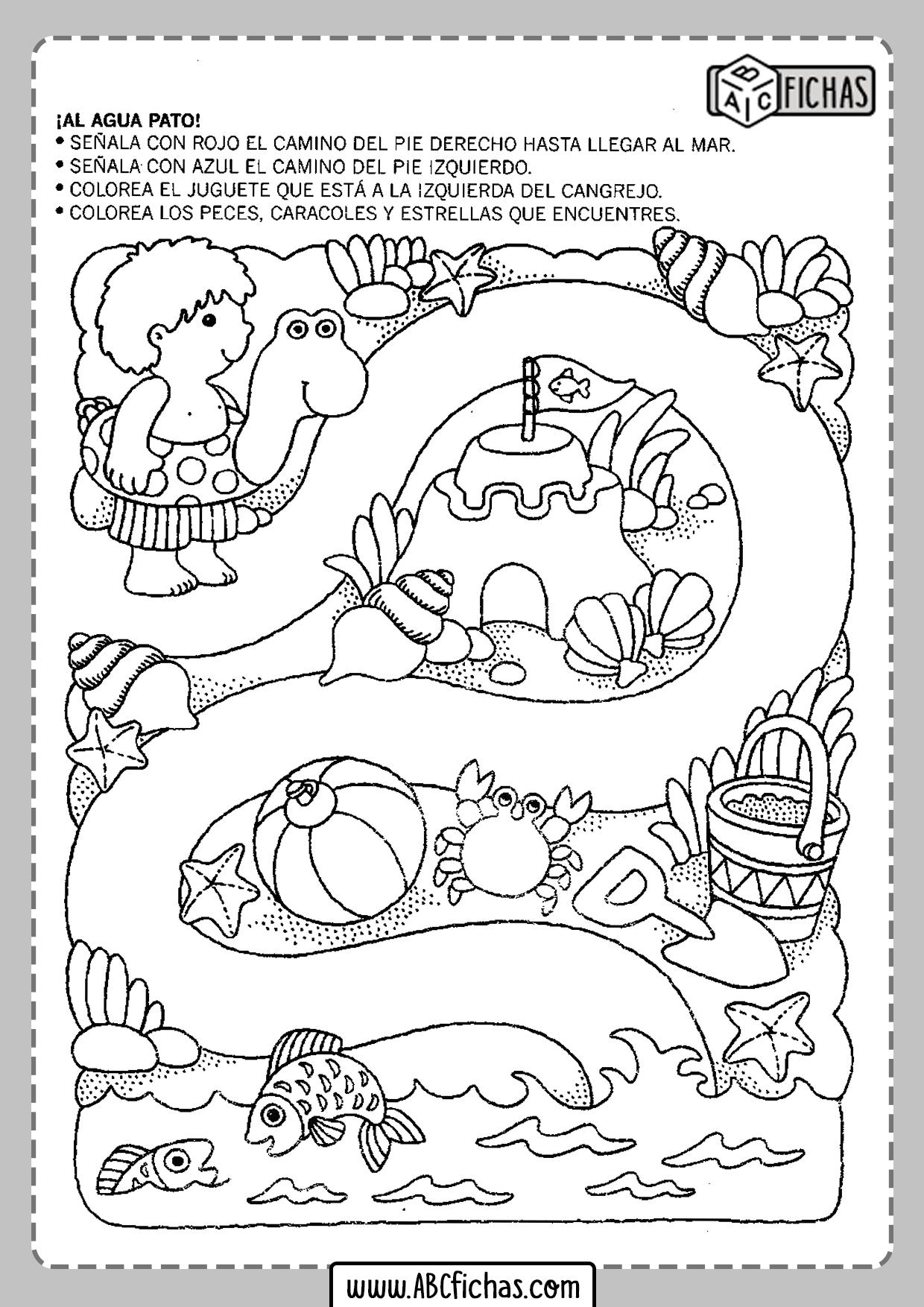 Fichas infantiles para imprimir