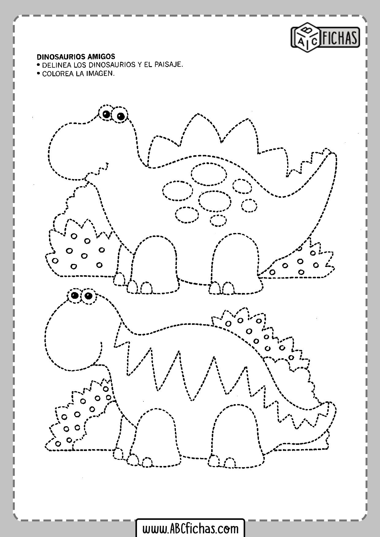 Fichas de grafomotricidad en dibujos para niños