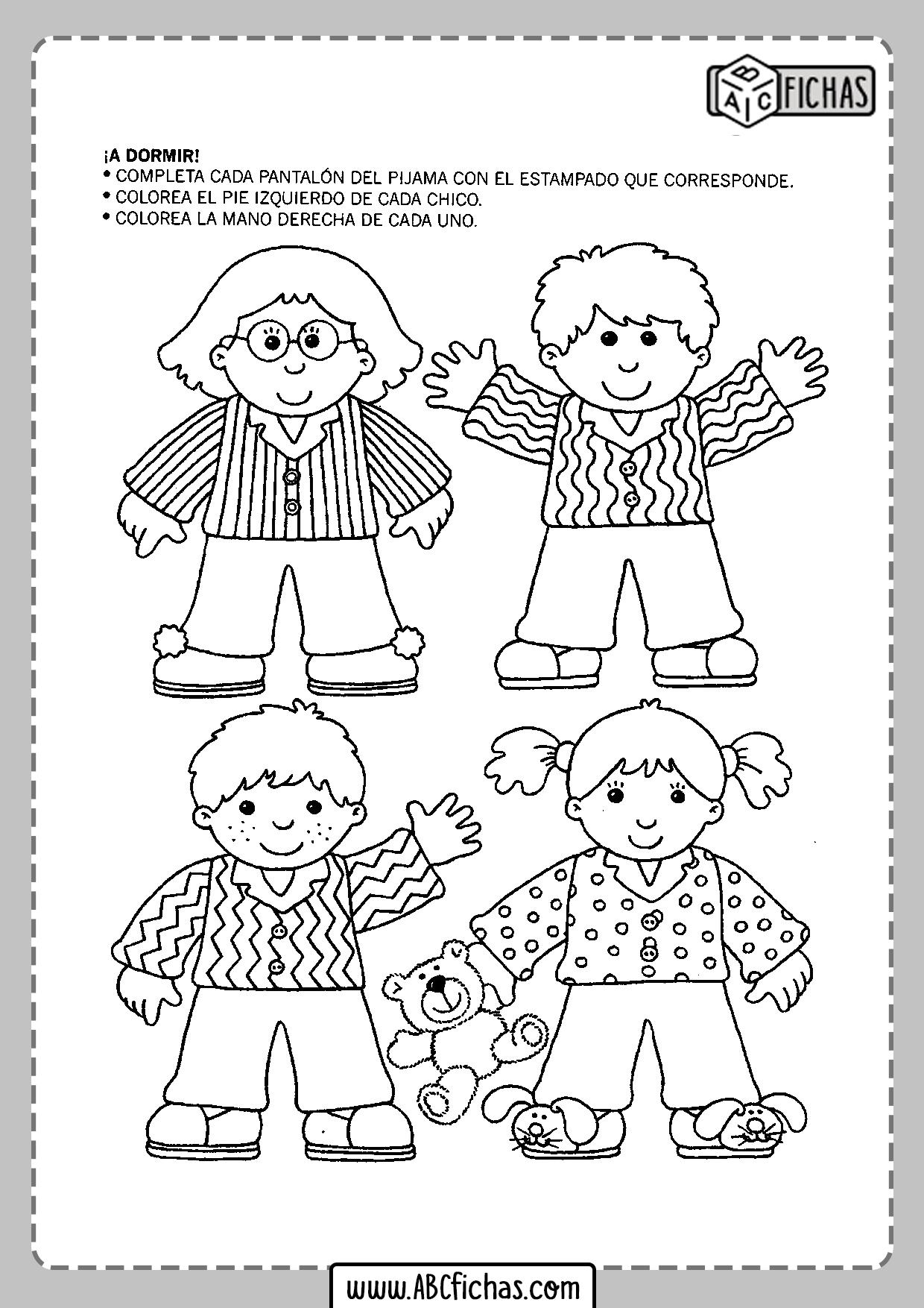 Fichas de preescolar en pdf para imprimir