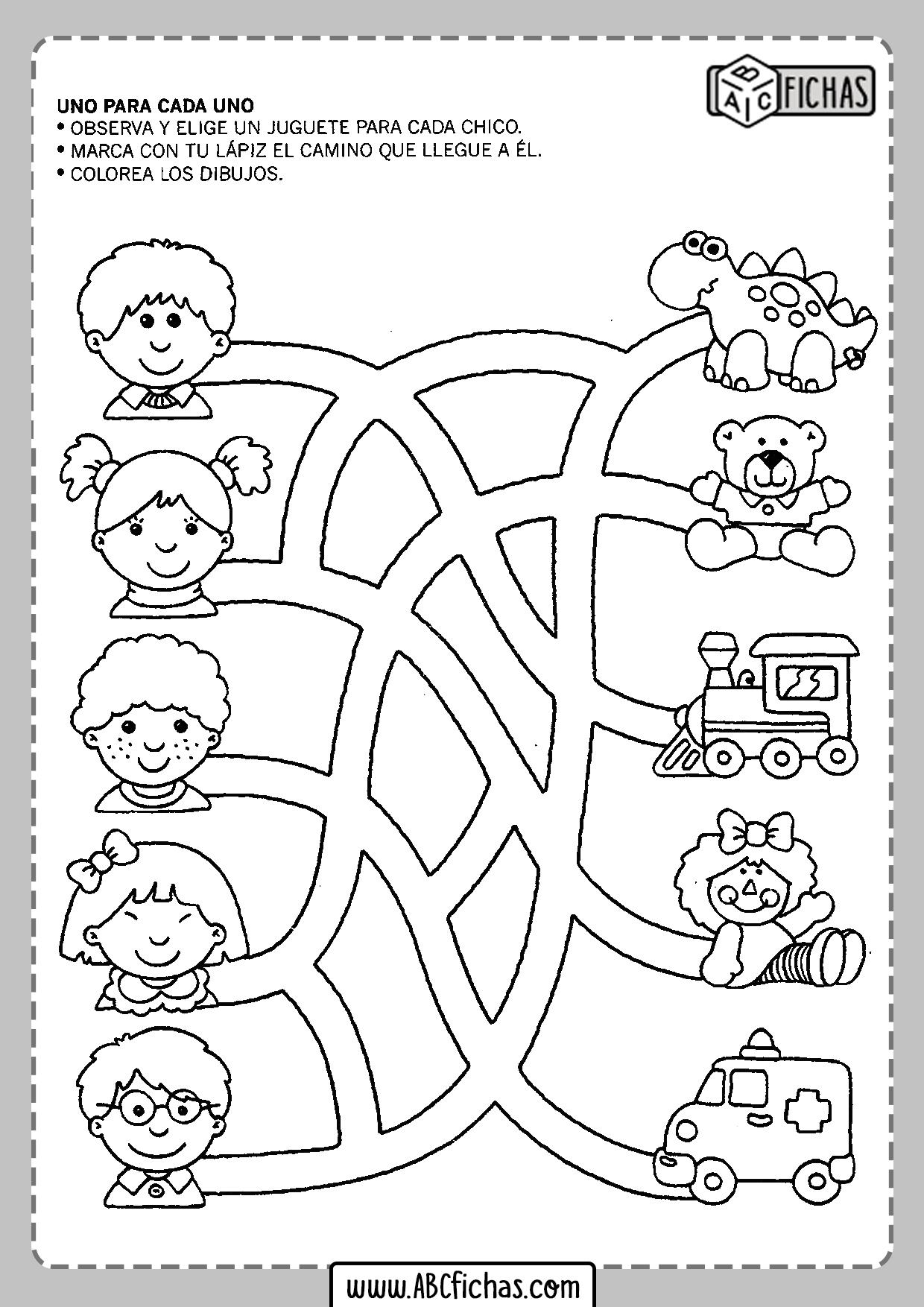 Fichas de preescolar para imprimir