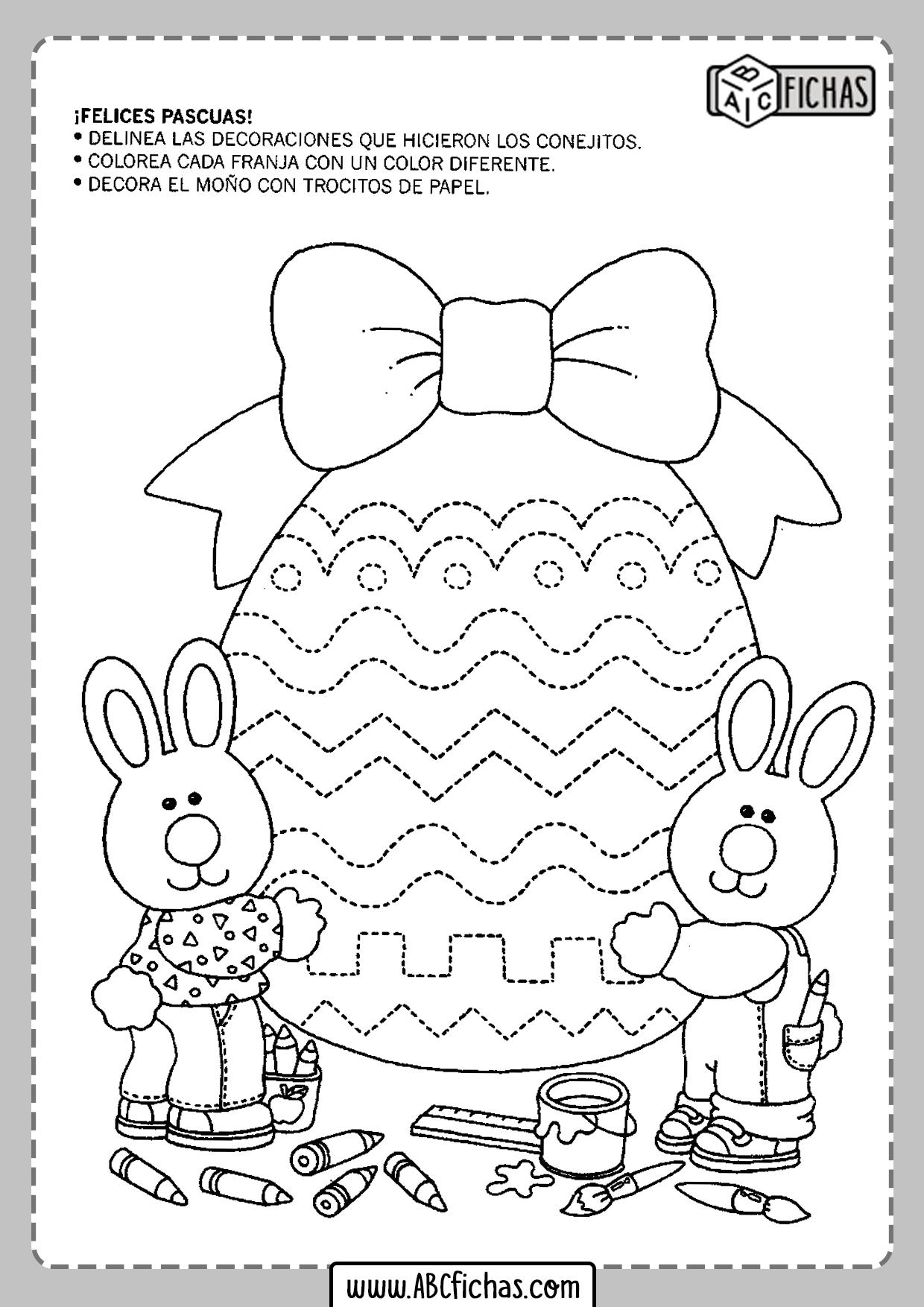 Fichas de actividades para niños de 4 años