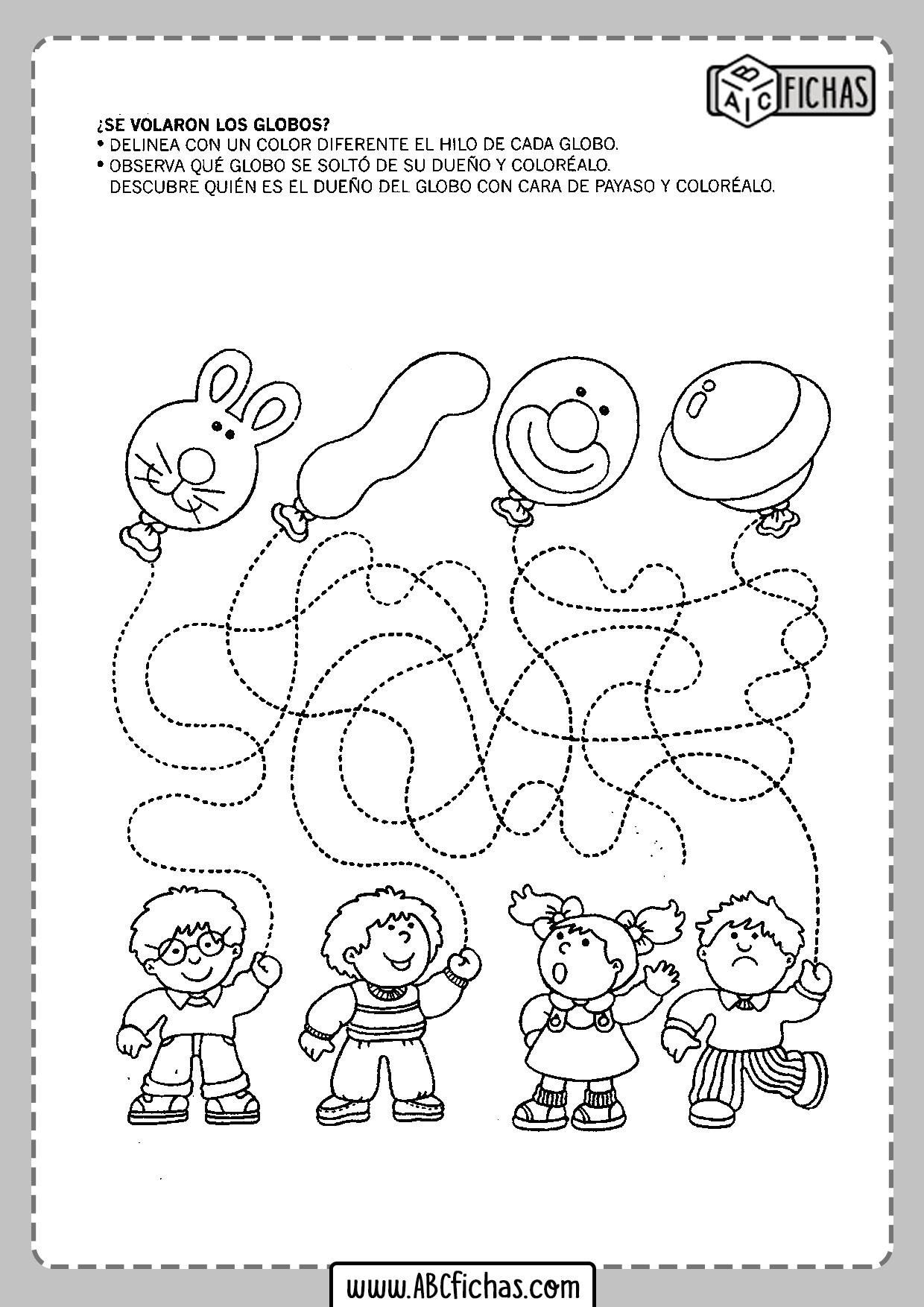 Fichas de delinear para niños