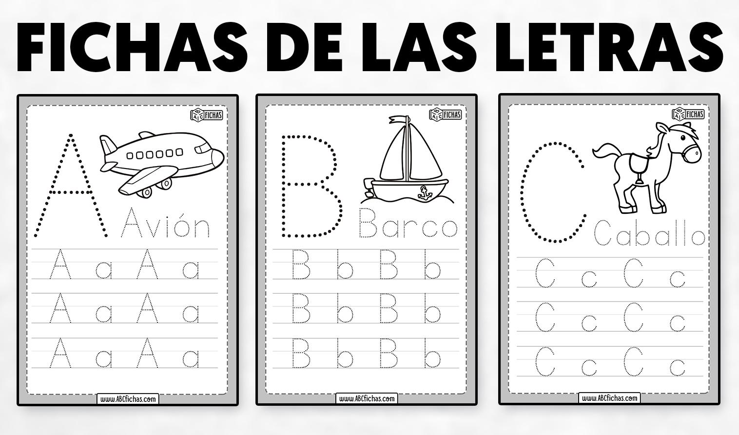 Fichas de las letras