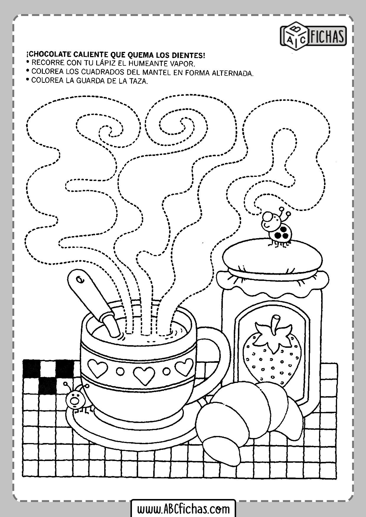 Fichas para imprimir para niños de 4 años