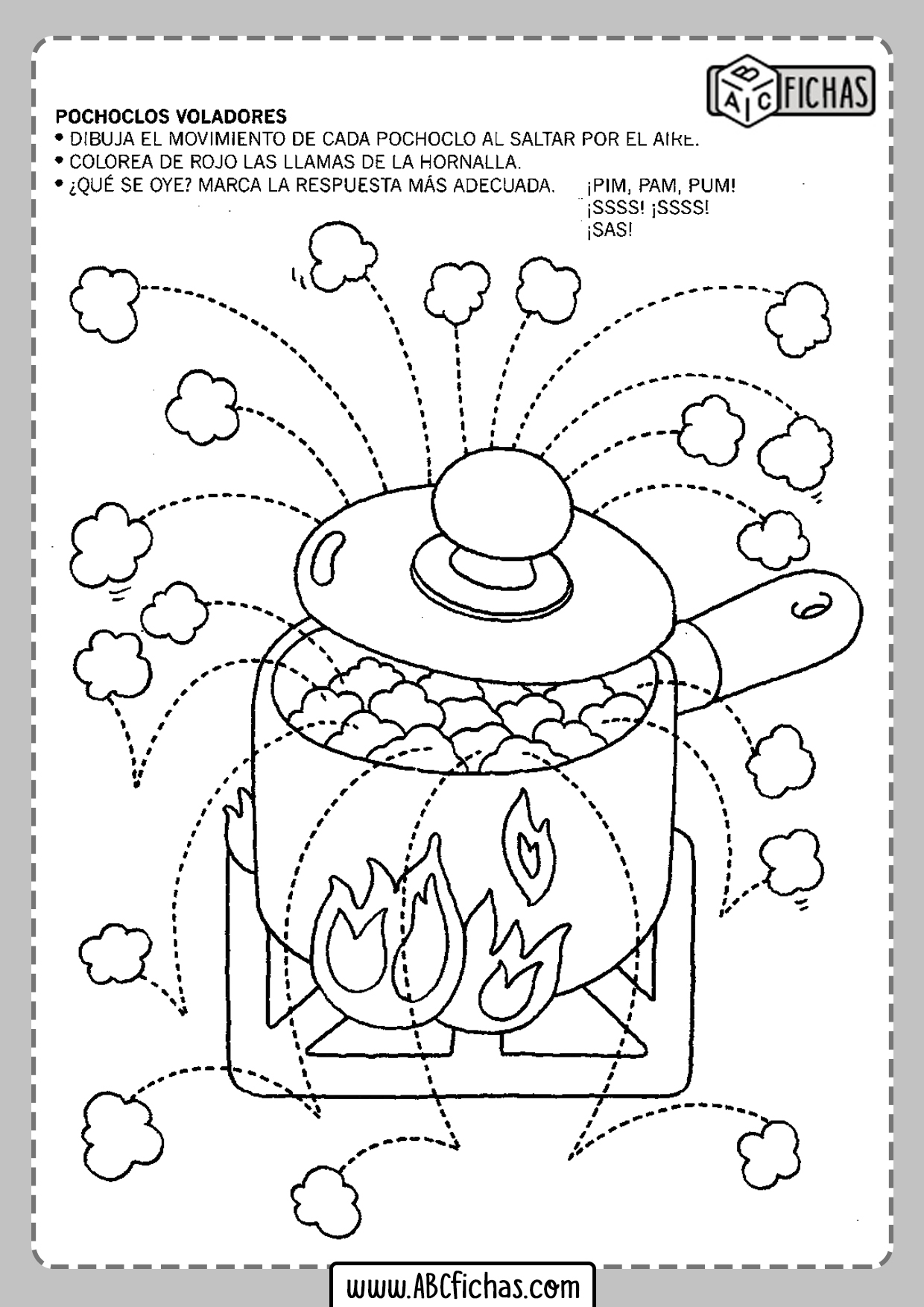 Fichas para imprimir para niños