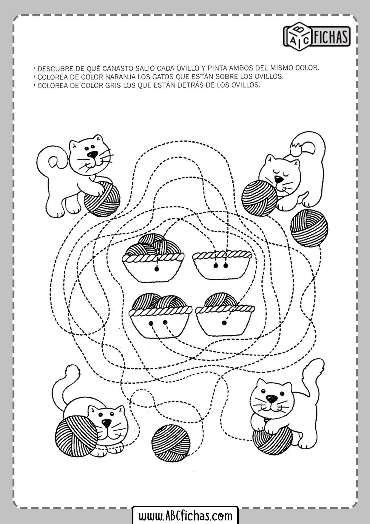Fichas para niños de 3 años