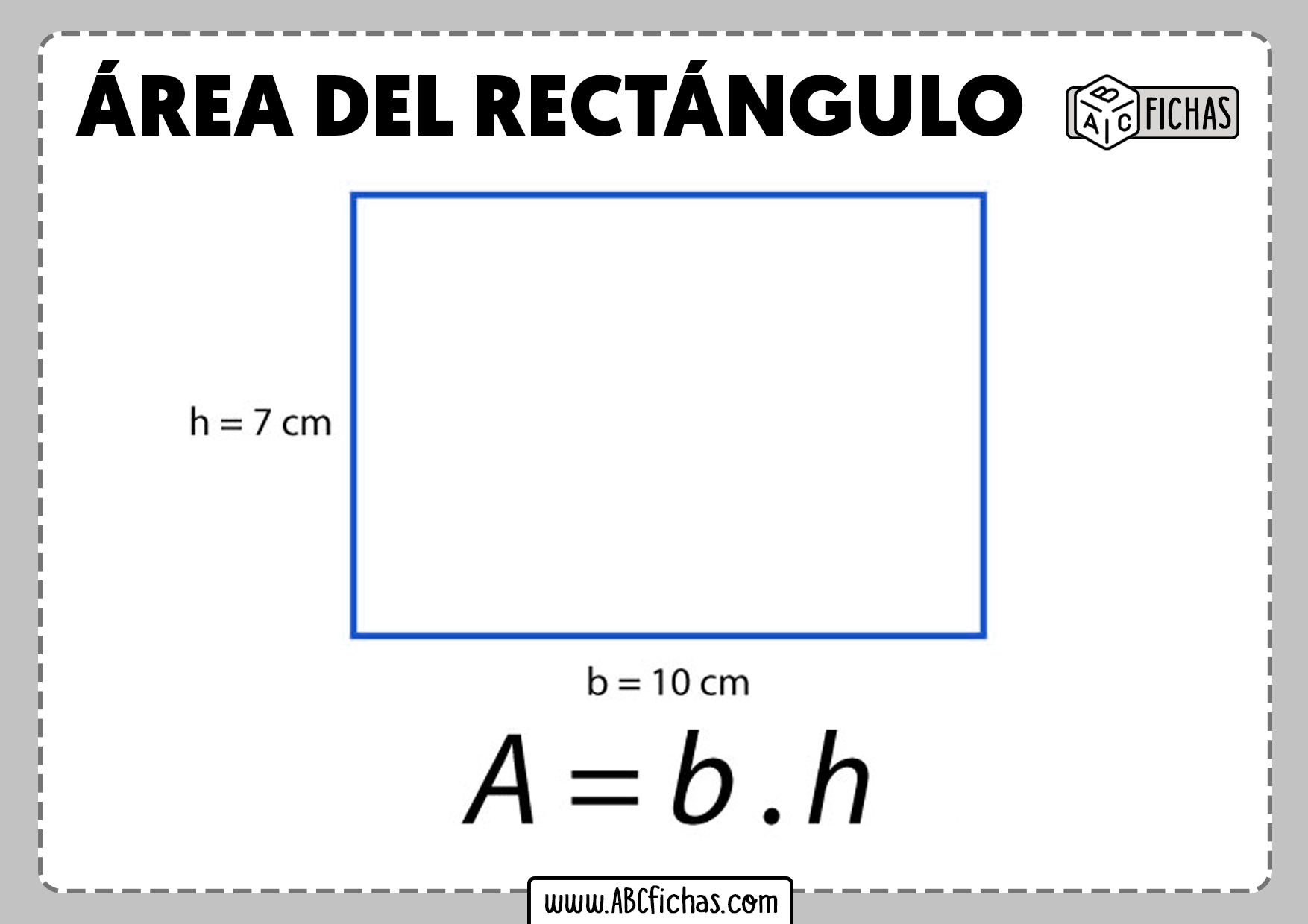 Formula area del rectangulo