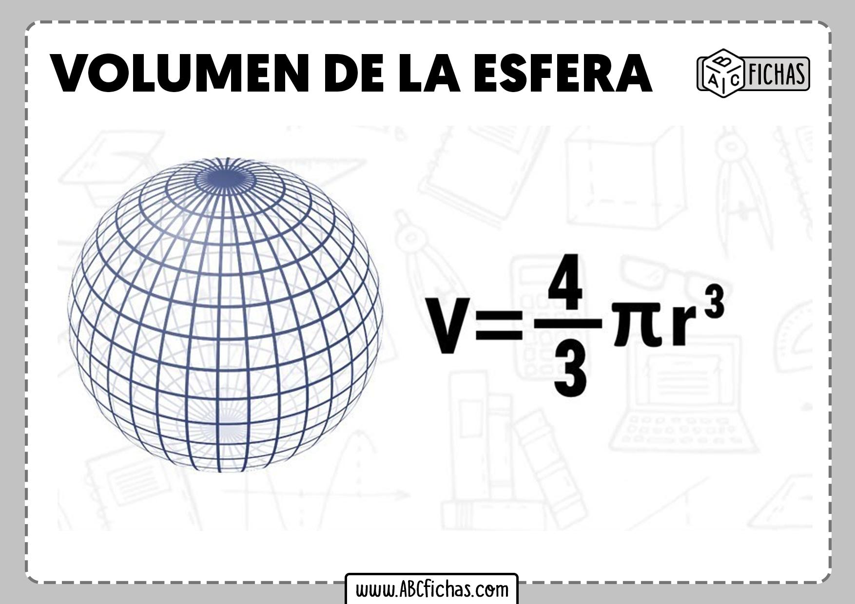 Formula volumen esfera