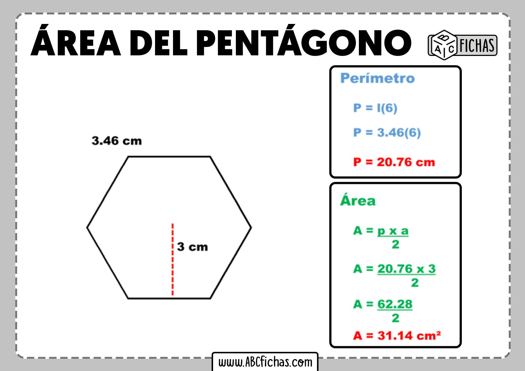 Formula del area del pentagono