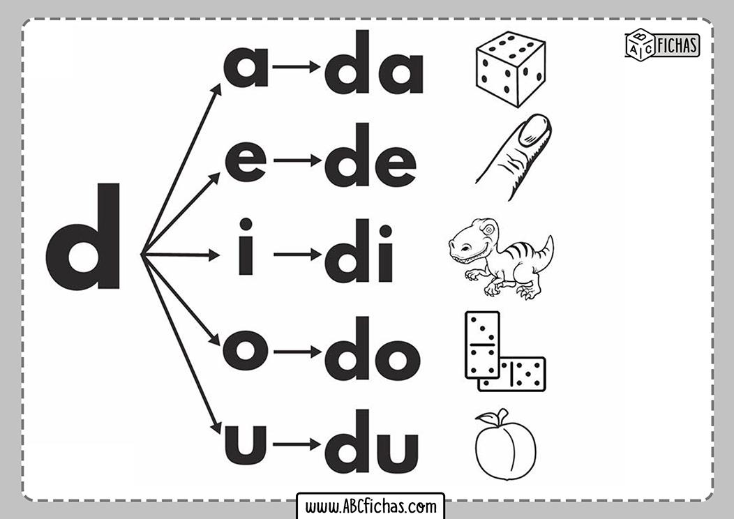 Letra d silabas con d