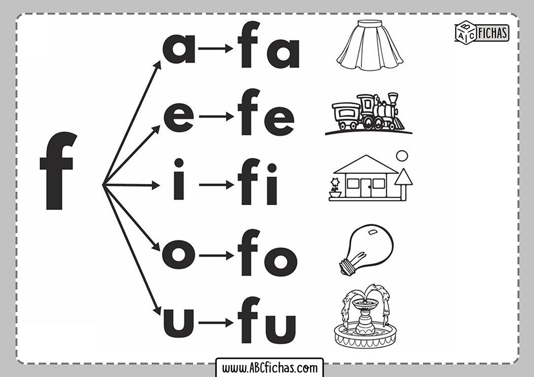 Letra f silabas con f