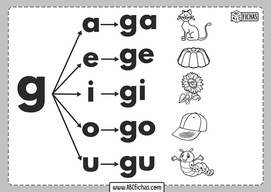 Letra g silabas con g