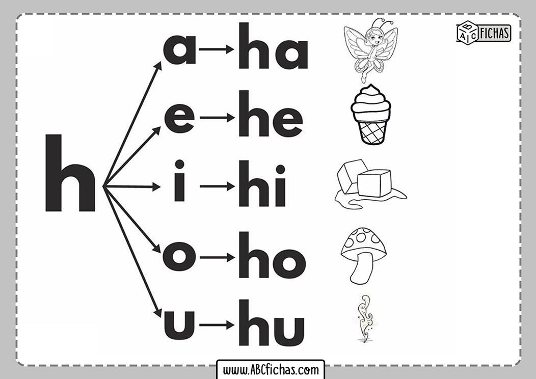 Letra h silabas con h