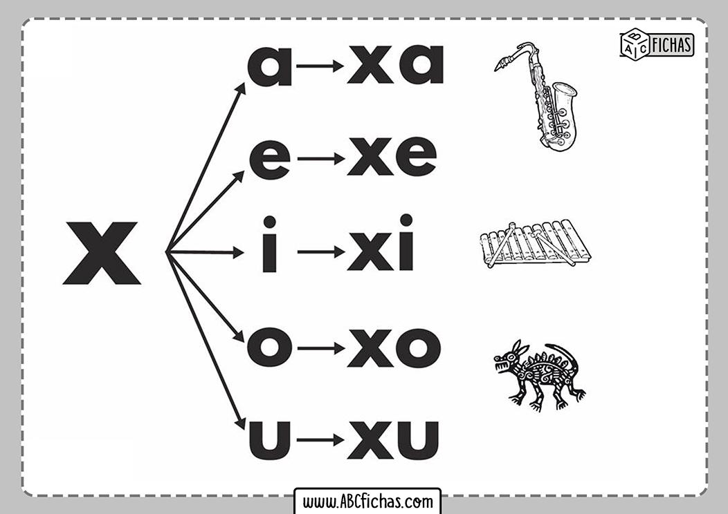Letra x silabas con x