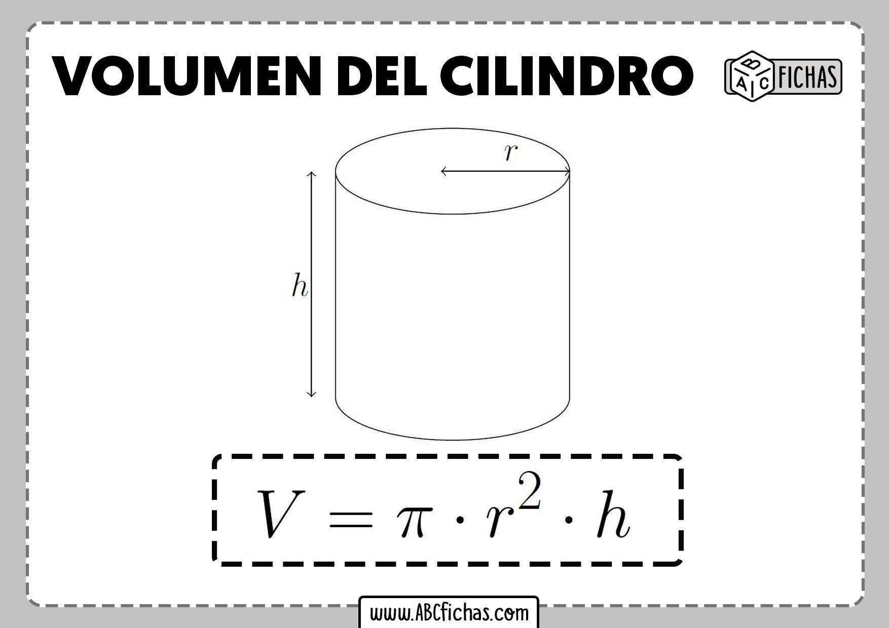 Volumen cilindro formula