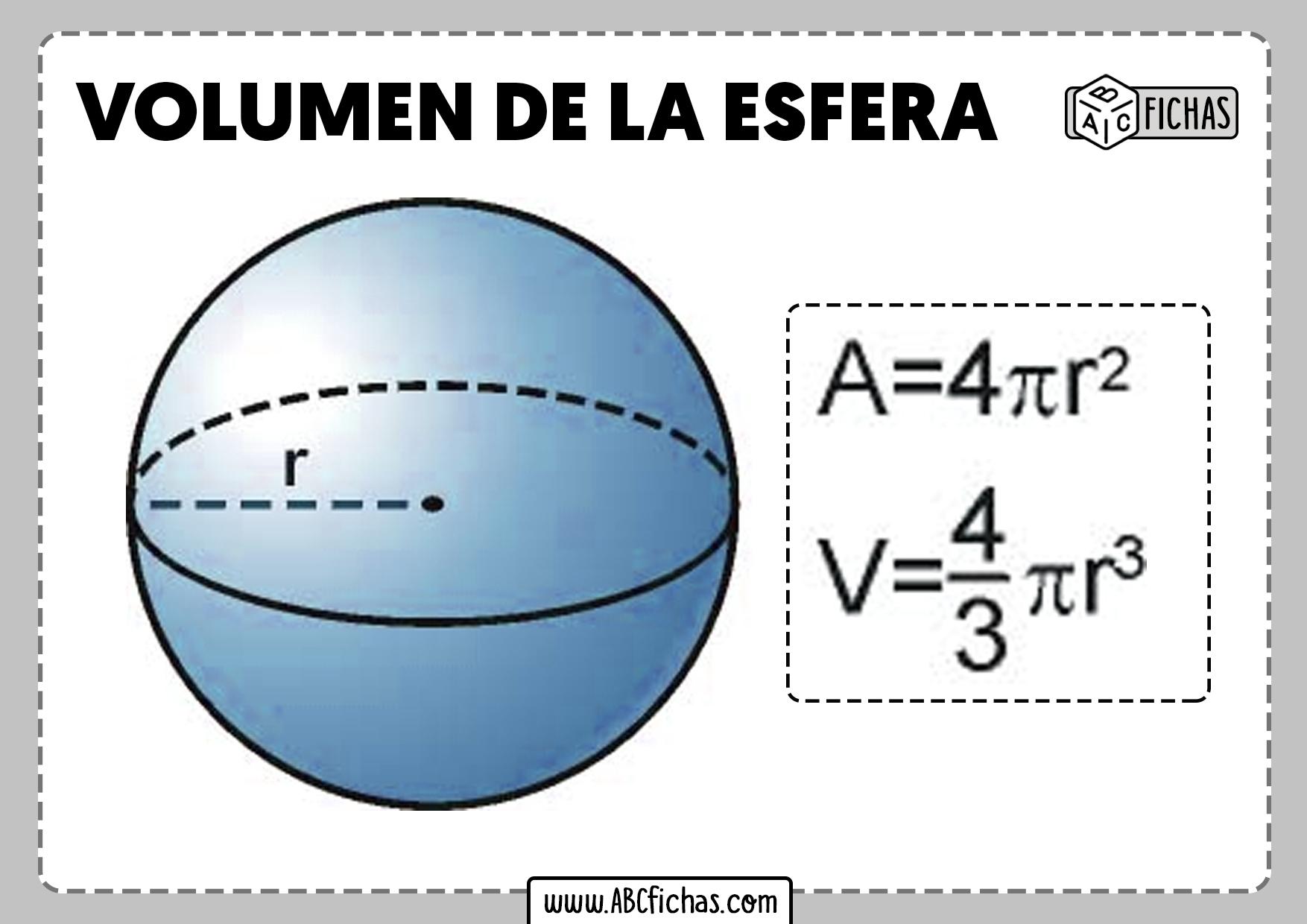 Volumen de una esfera formula